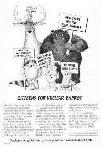 USCEA ad_nuclear equals happy animals