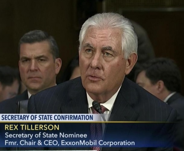 Rex Tillerson at Senate confirmation hearings