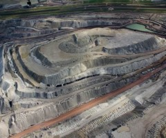 Black Thunder Coal Mine aerial view