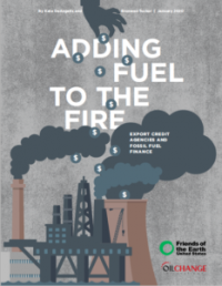Cover to Adding Fuel to the Fire report on ECA support to fossil fuels